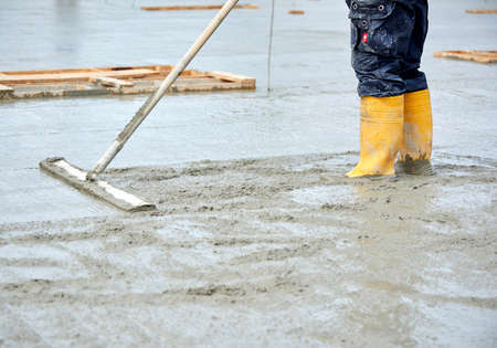 construction site pouring concrete