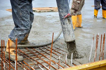 Baustelle Gießen Beton