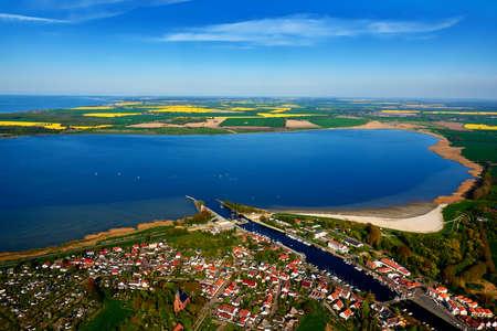 greifswald: aerial photography  of Greifswald Wieck in baltic sea