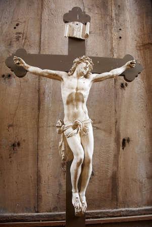 jesus cross INRI Stock Photo