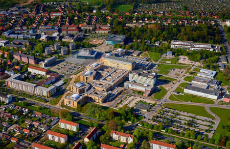 healthcare visitor: aerial of medicine clinic of Greifswald