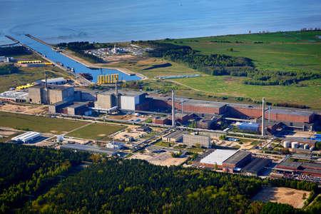nuclear power station near baltic sea Stock Photo