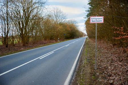restricted area in case of avian flu