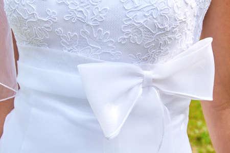 Detail van de trouwjurk Stockfoto - 76516593