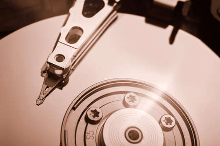 conventional computer hard disk drive HDD Stock Photo