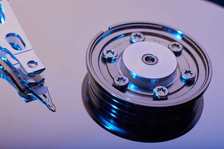 hard component: conventional computer hard disk drive HDD Stock Photo