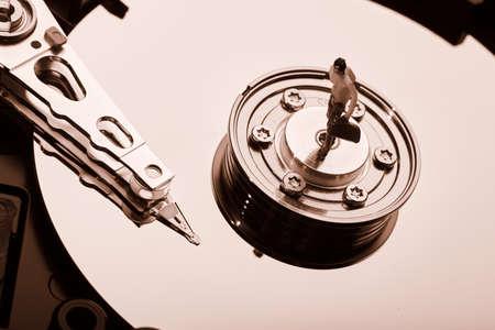 sata: conventional computer hard disk drive HDD Stock Photo