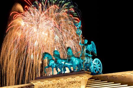 New Years Eve at Brandenburg Gate in Berlin