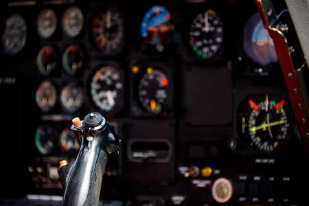 view intohelicopter cockpit Фото со стока