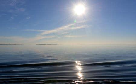 soft waving water in baltic sea Stock Photo