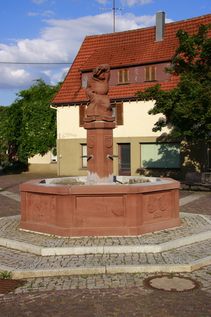 the abbot: Abbot on the market square in weissach