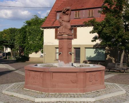 Abt op het marktplein in Weissach