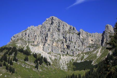 View of the Tannheimer Alpen