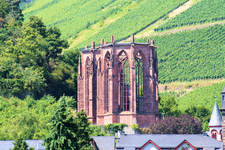 Ruin Wernerkapelle near Bacharach am Rhein in the Middle Rhine Valley