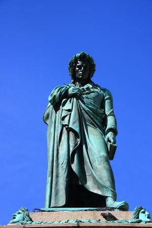Close-up of the Schiller Monument in Stuttgart Stok Fotoğraf