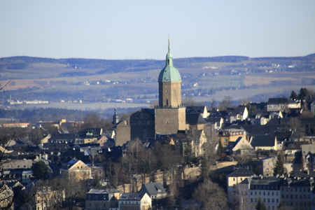 View of annaberg buchholz in saxony in germany