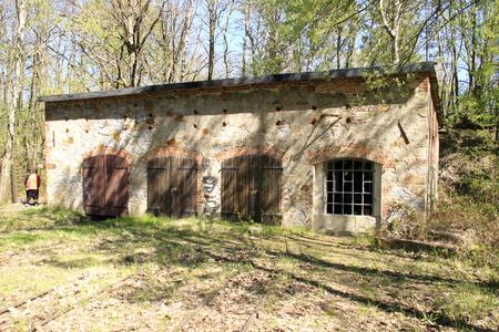 Engine shed in the quarry trail Koenigshain near Goerlitz