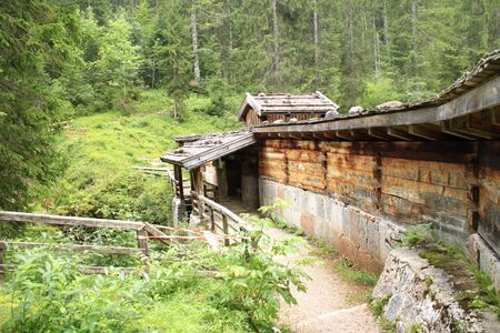 Muckklause at the Winklmoosalm in the border area between Germany and Austria Banco de Imagens