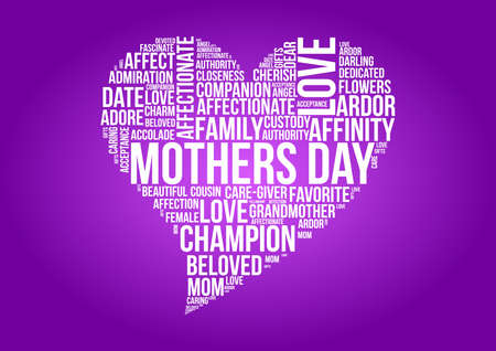 Mothers day word cloud concept in vector Vector