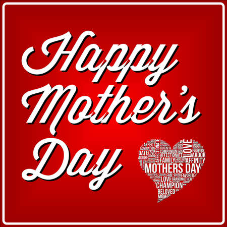 Mothers day illustration word cloud concept in vector Vector