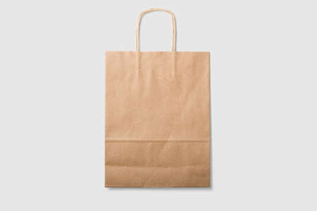 Mock-up of blank kraft paper. High resolution.