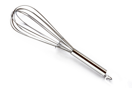 Stainless Steel Whisk - Isolated On White Background