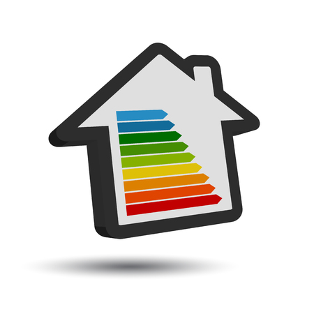 New Energy Class Table - 3D House Icon With Shadow