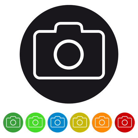 Photography camera icon for apps and websites