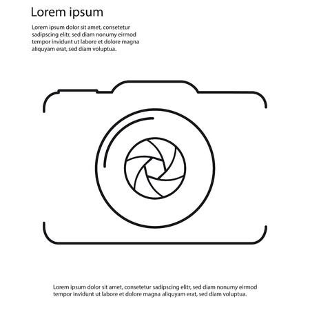 Camera Outline Vector Icon