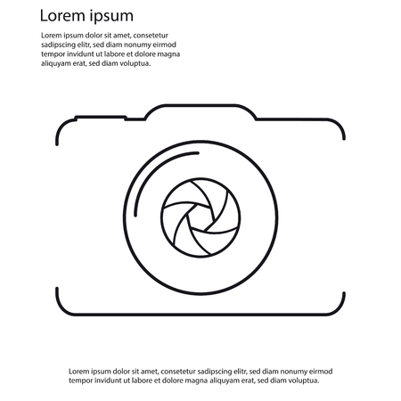 Camera Outline Vector Icon