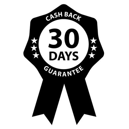 Seal Badge 30 Days Cash Back Guarantee  イラスト・ベクター素材