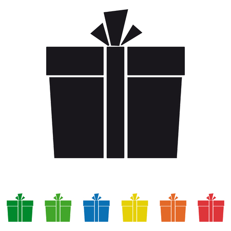 Gift box icons set  Vector graphic isolated on plain background.