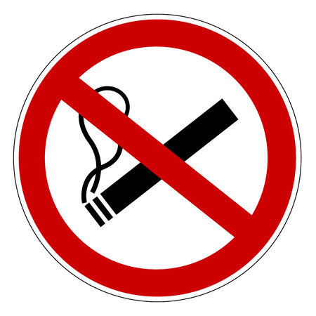No smoking prohibiting sign. Illustration