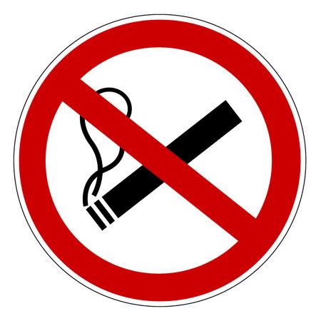 No smoking prohibiting sign. Stock Illustratie