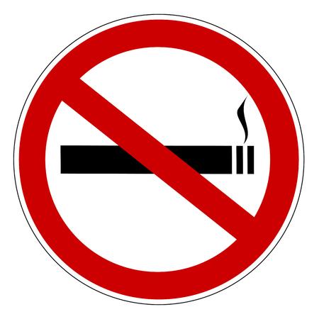 No smoking prohibiting sign Vector illustration.