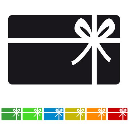 Winkelen Gift Card Icon - verschillende kleuren