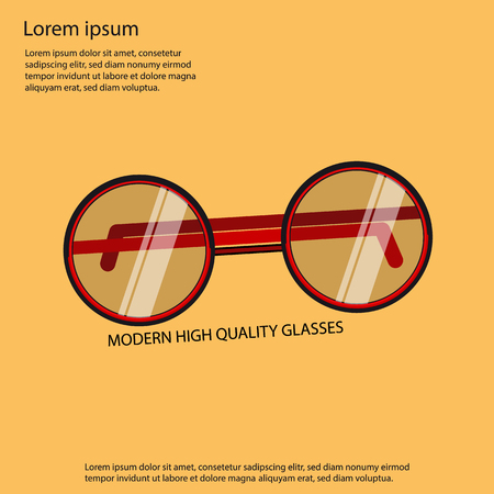 Modern High Quality Glasses - Poster Design Illustration