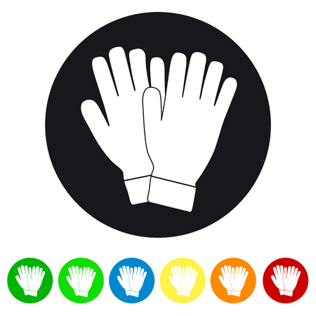 Gloves Icon Vector - Colorful Set Illustration