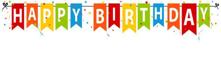 Happy Birthday Banner - Editable Vector Illustration