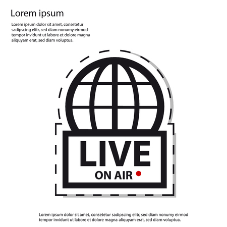 Live News On Air - Vector Sticker Icon