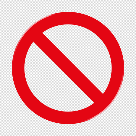 Forbidden Sign - Transparent Background