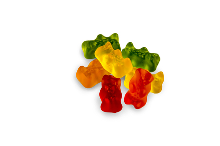 Gummy Bears - Isolated On White Background