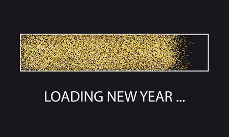 Golden Glitter Loading Bar New Year