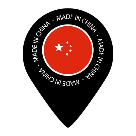 Made In China - Map Pointer Flag