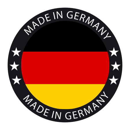 Made In Germany Button Stock Illustratie