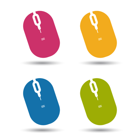 Computer Mouse Colorful Vector set