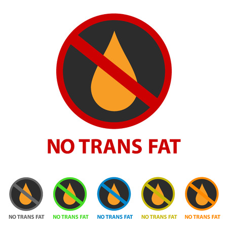 No Trans Fat Icon - Different Colors