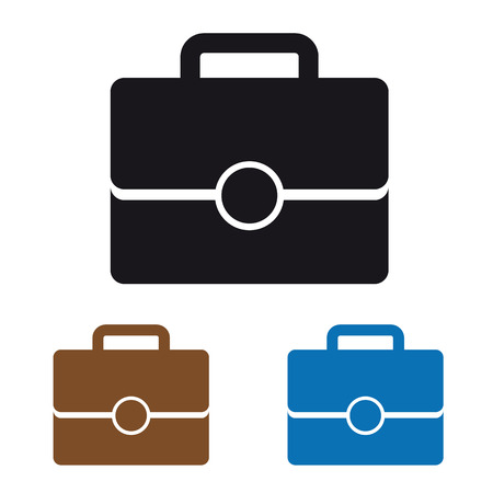Office Bag Icon - Colorful Vector Illustration 일러스트