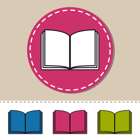 Open Book - Editable Colorful Vector Icons - Isolated On White Background
