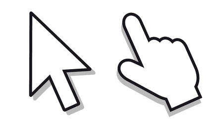 Mouse Pointer Set - Editable Vector Icons Illustration